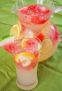 Watermelon Lemonade...just in time for summer!