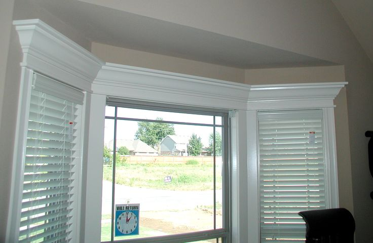 Window moldings on pinterest window trims house and kitchens - Molding Around Bay Windows Decoration Ideas For My Own