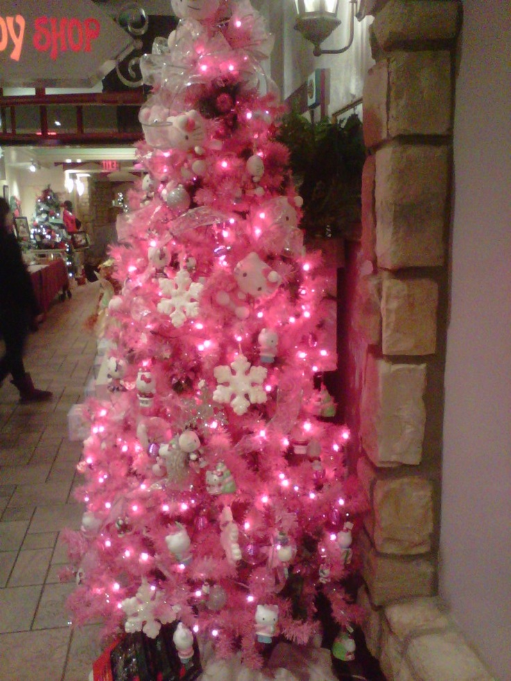 pink hello kitty christmas tree christmas pinterest. Black Bedroom Furniture Sets. Home Design Ideas