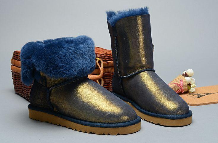 ugg boots bronze metallic