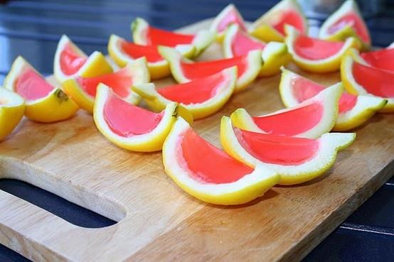 pink lemonade jello shots | Drink Ideas | Pinterest