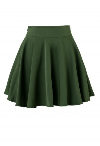 Make your friends green with envy when you twirl in this velvet skater skirt! The luxurious velvet skirt feels so soft and is so hot right now. Wear it dressy or pair it with a band tee to wear it casual.