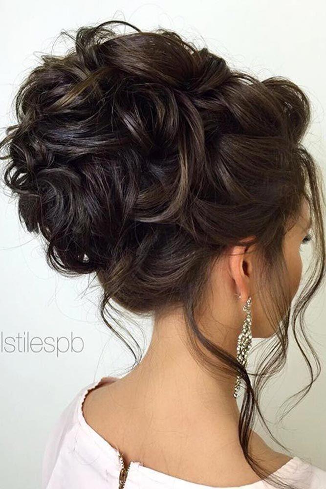 Свадебная прическа на темных волосах