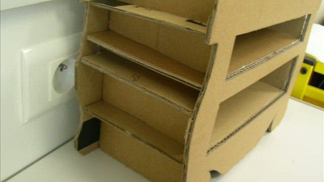 Video tuto meuble en carton carton pinterest for Meuble carton tuto