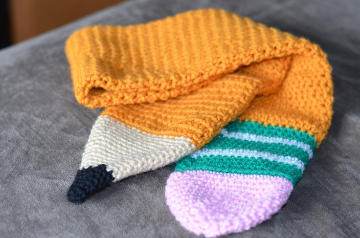 Knitting Pattern For Pencil Scarf : Crochet Pencil Scarf Scarves Pinterest