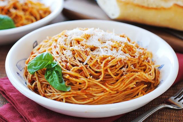 Red Pepper Pesto over pasta | Where's the food? | Pinterest
