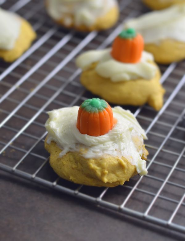 Pumpkin Cookies with Cinnamon Cream Cheese Frosting | Recipe