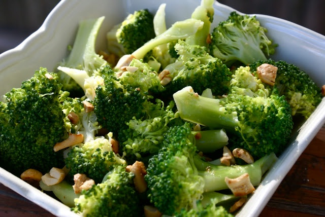 Broccoli with Garlic Butter and Cashews | Sides Recipes | Pinterest