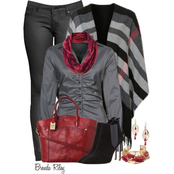 """The Poncho"" by brendariley-1 on Polyvore"