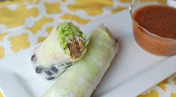 Burrito Summer Roll | Recipe