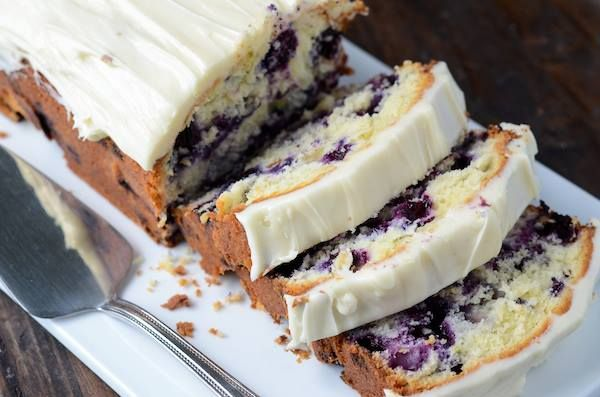 """Blueberry Lime Cream Cheese Pound Cake 