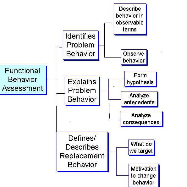 functional behavior assessment and behavior support Functional behavioral assessment and positive behavior support plans an overview developing meaningful and effective plans of support require a four step process.