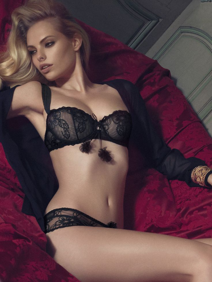 Aubade AW2013 - 'Russian Cancan' Balconett Bra with St-Tropez String-Panty