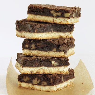 Brownie Pecan Shortbread Bars Recipe - Woman's Day