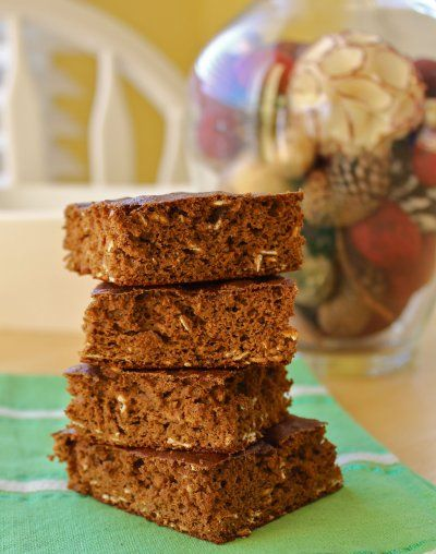 Healthy Gingerbread Pumpkin Squares by Eat Spin Run Repeat