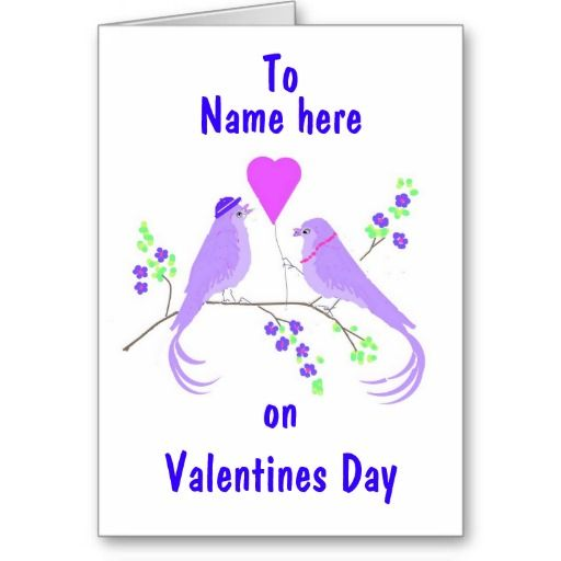 valentine day name card