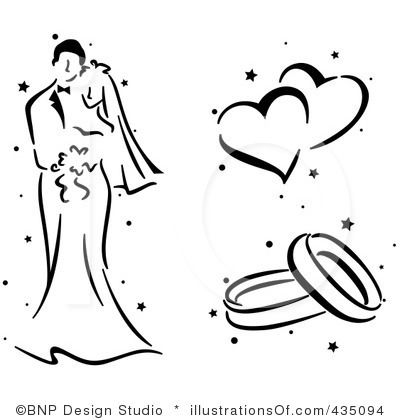 Royalty-Free (RF) Wedding Clipart Illustration by BNP Design Studio - Stock Sample #435094