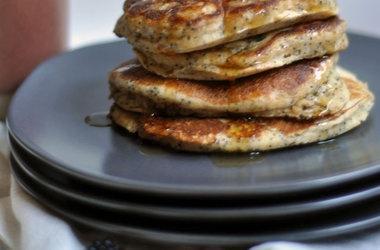 Whole Wheat Almond-Poppy Seed Pancakes — Punchfork
