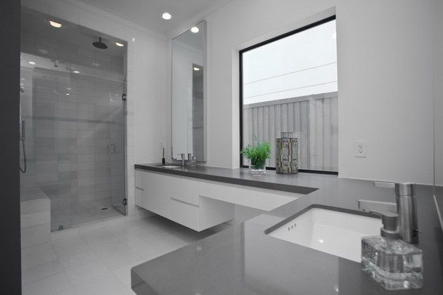 L shaped counter with vanity knobhill house pinterest for L shaped bathroom vanity ideas