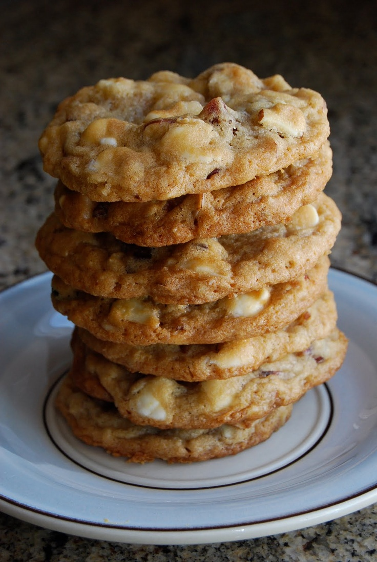 ... White Chocolate Chip Oat Cookies with Dried Cranberries and Slivered