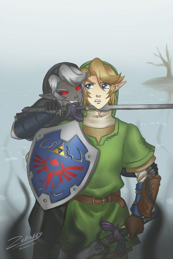 Link vs Dark Link: Ocarina of Time | Awsome fan art ...