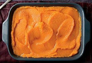 Puréed Winter Squash & Carrots with Tangerines & Brown Butter