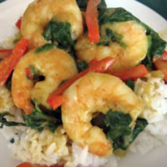 Coconut Curried Shrimp With Coconut Rice Recipes — Dishmaps