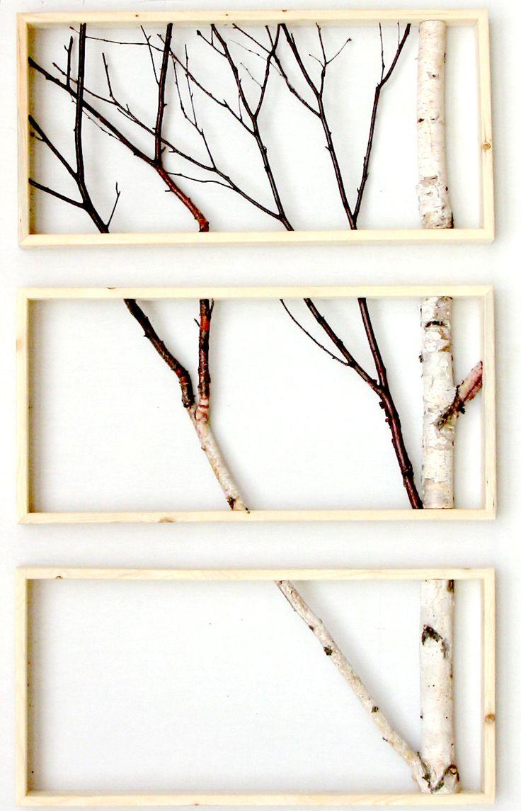 Дерево из веток на стену своими руками