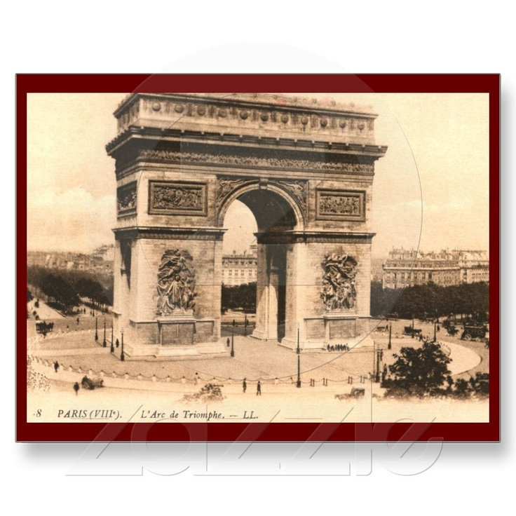 Arc de Triomphe, Paris, France Vintage