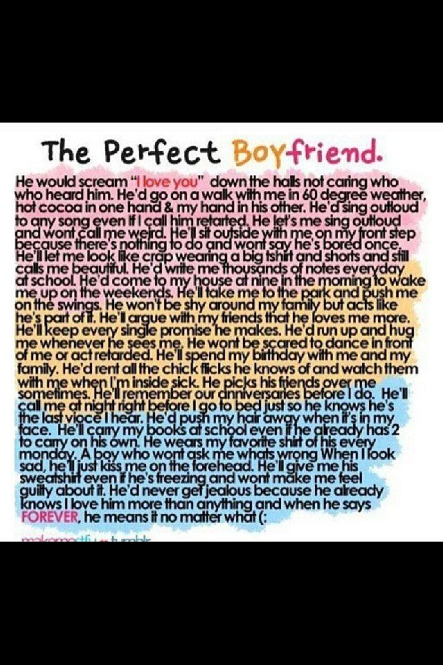perfect boyfriend quotes quotesgram