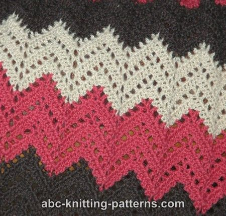 Lace Ripple Afghan pattern with diagram.