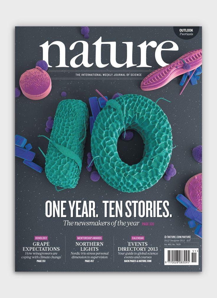 Nature Book Cover Design ~ Nature magazine cover typo graphic design pinterest