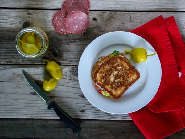 Antipasto Grilled Cheese Sandwich | Food | Pinterest