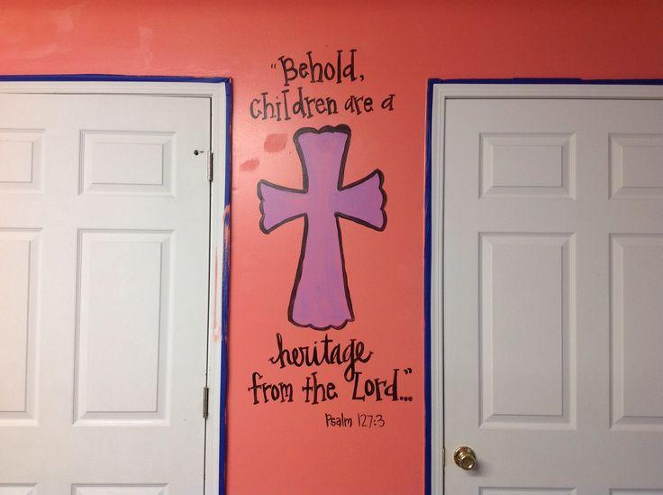 Church wall mural cute as a button pinterest for Church wall mural