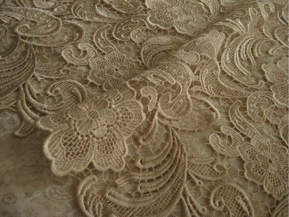 Crochet Fabric by the Yard ... Lace Fabric, Crocheted lace fabric ...
