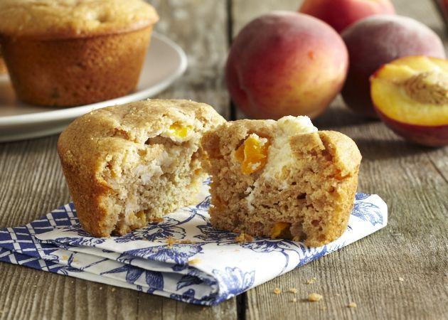 Peaches & Cream Muffins. Holy yum! | Food! | Pinterest