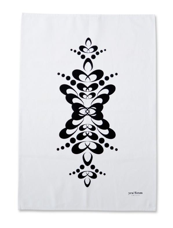Orla Kiely Kokshandduk : design kokshandduk  Vit kokshandduk Cucurbita Graphica po Nordic