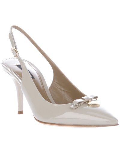 Nude leather slingback shoe from Dolce & Gabbana. Potential new work shoes :)