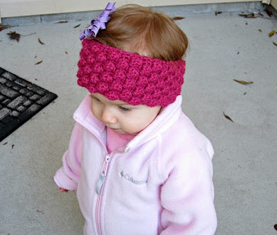 Baby Girl Espadrilles Crochet Pattern : Bobble Baby Ear Warmer: Pattern Crochet Hat/Headband ...