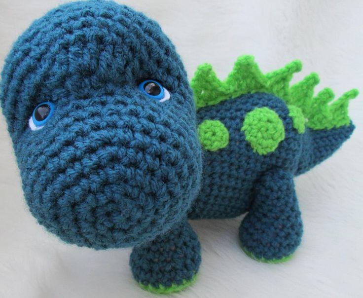 Cute Dinosaur Crochet Pattern Crochet Pinterest