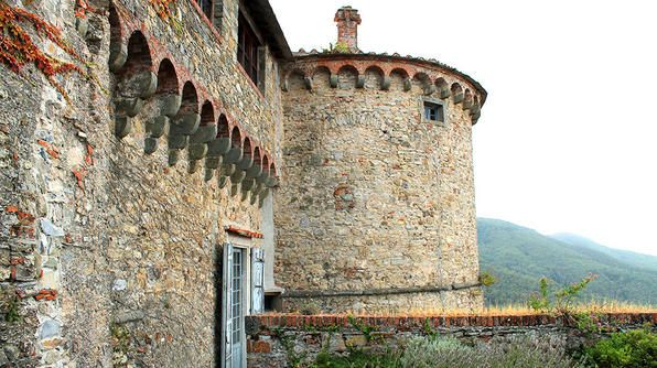 Malaspina Castle of Fosdinovo in Italy
