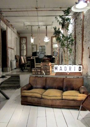 Vintage Industrial Living Interior Delish Pinterest
