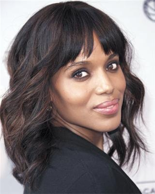 Kerry Washington Soft Waves Haircuts for Medium Hair