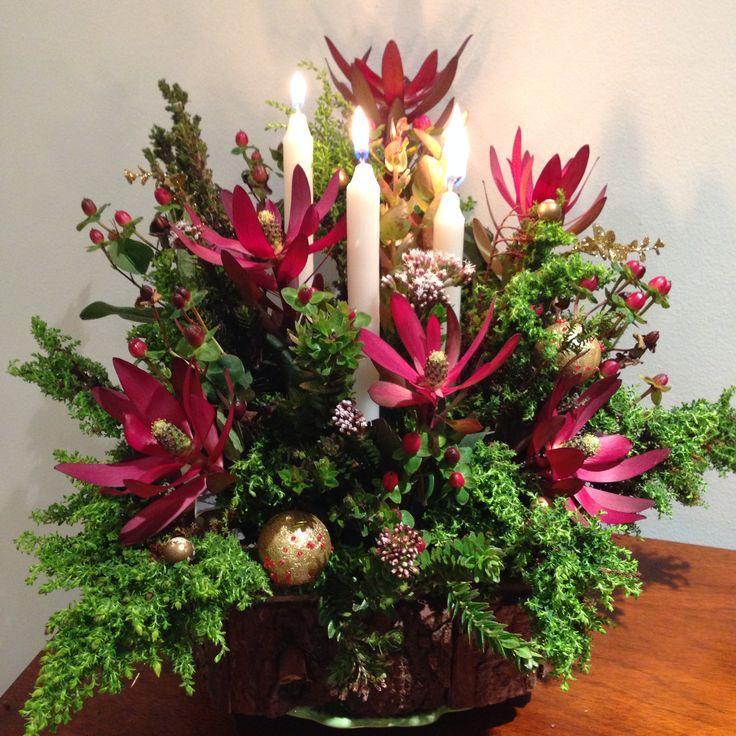 Mi arreglo de navidad arreglos florales pinterest for Arreglos navidenos para mesa