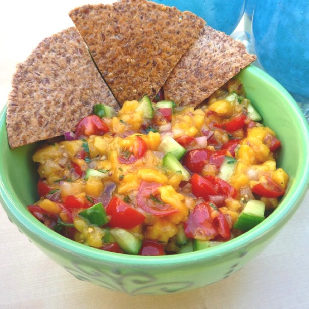 homemade mango salsa = healthy snack | Recipes | Pinterest