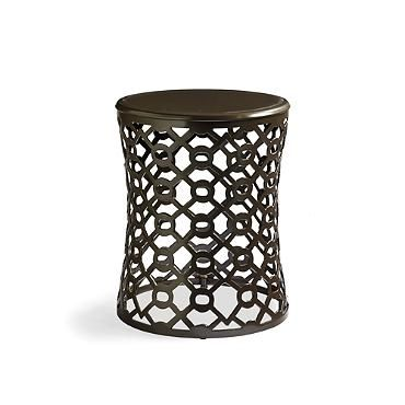Geo outdoor side table frontgate patio furniture