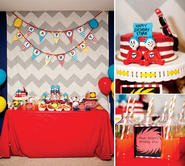 Bright & Whimsical Dr. Seuss Birthday Party
