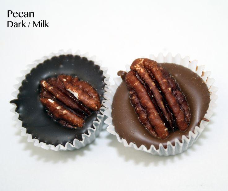 Dark chocolate pecan cluster | Vegan @ BirminghamChocolate.com | Pint ...