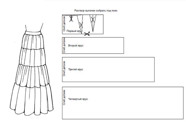Сшить широкую юбку своими руками без выкройки быстро 12