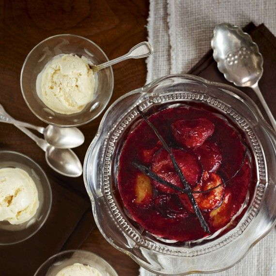 ... ice cream with roasted plums - Woman And Home.Easy to make vanilla ice